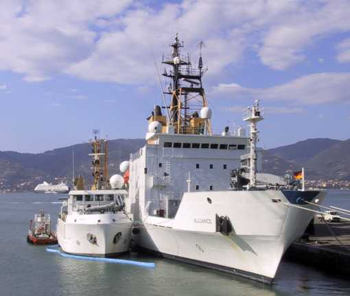 Research vessels Alliance and Leonardo