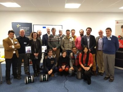 Attendees, real and virtual, at the kick-off meeting of the SciRoc project