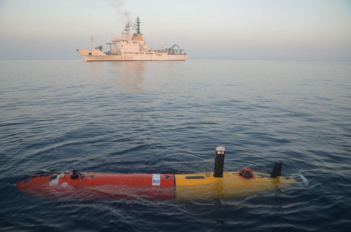 The NRV Alliance with the Ocean Explorer autonomous underwater vehicle